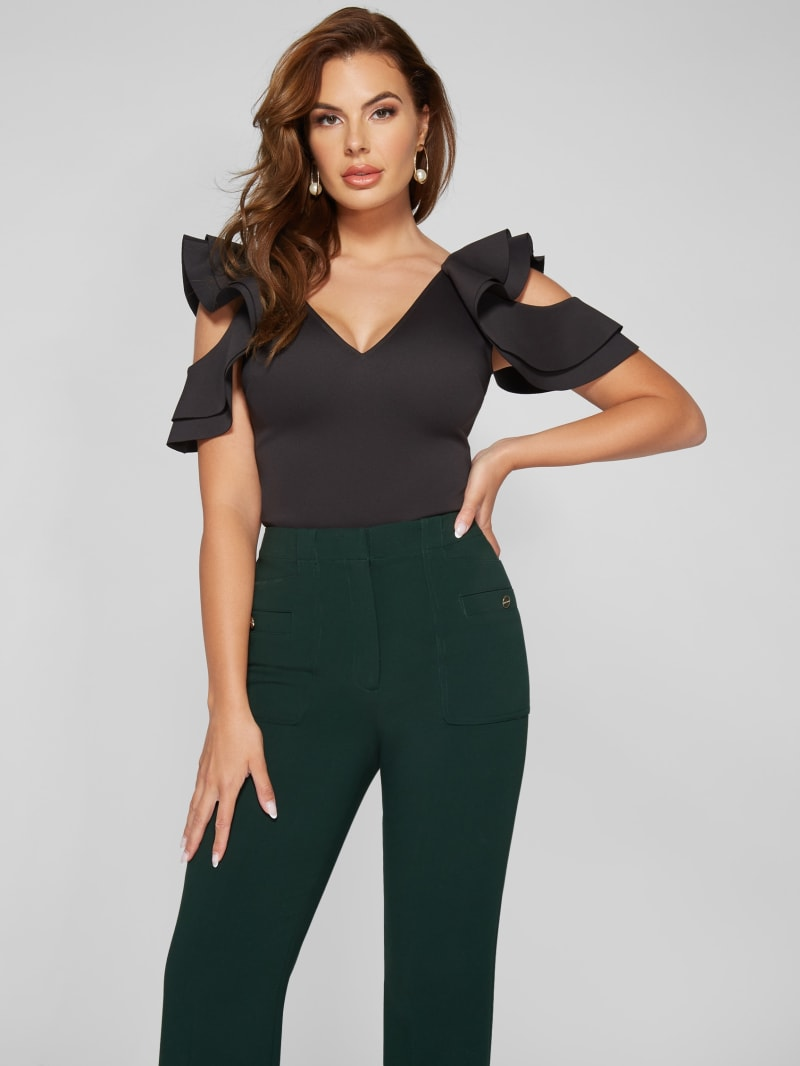 Alexa Cold-Shoulder Bodysuit
