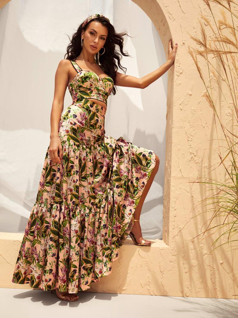 Paradise Oasis Tiered Skirt