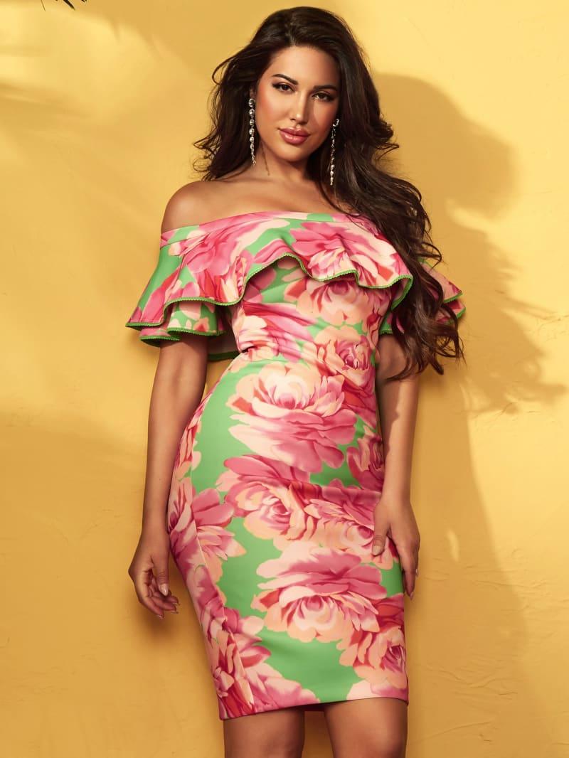Pout Off-The-Shoulder Scuba Dress