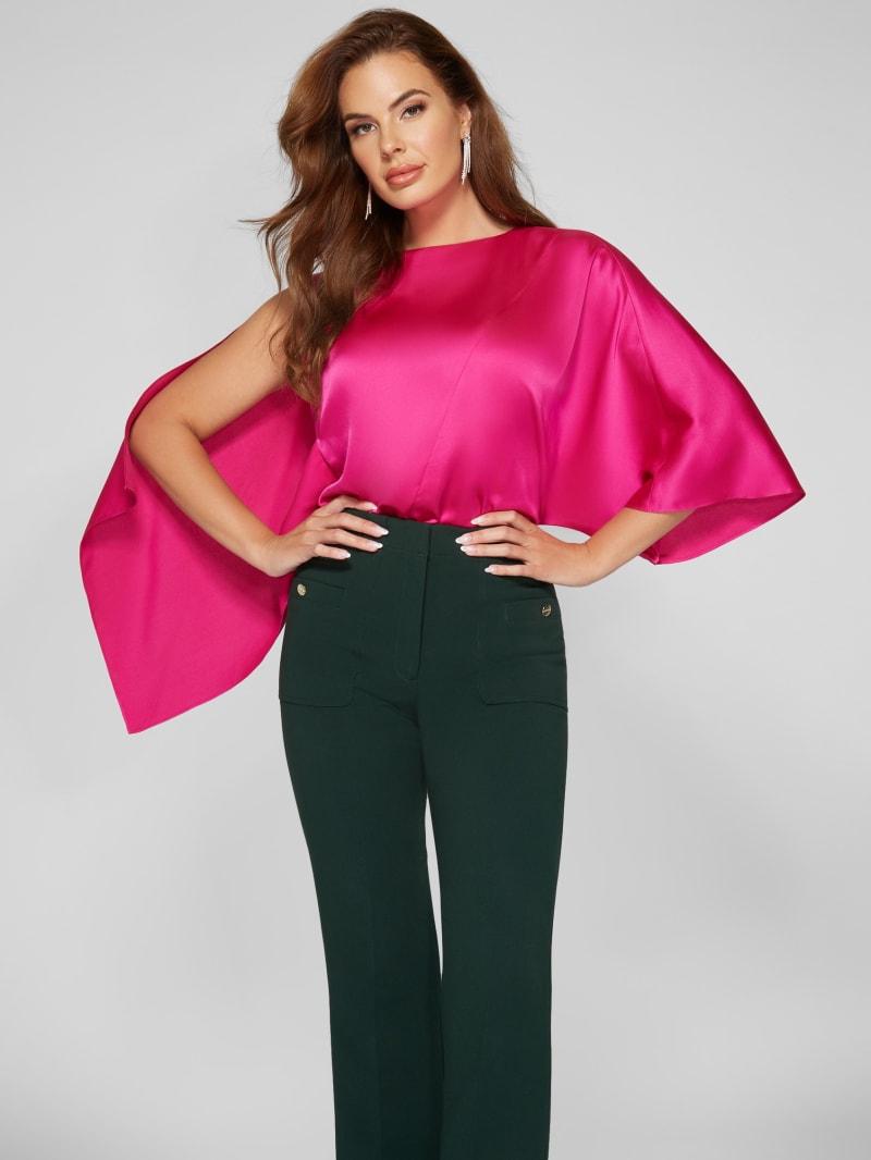 Irene Asymmetrical Draped Blouse
