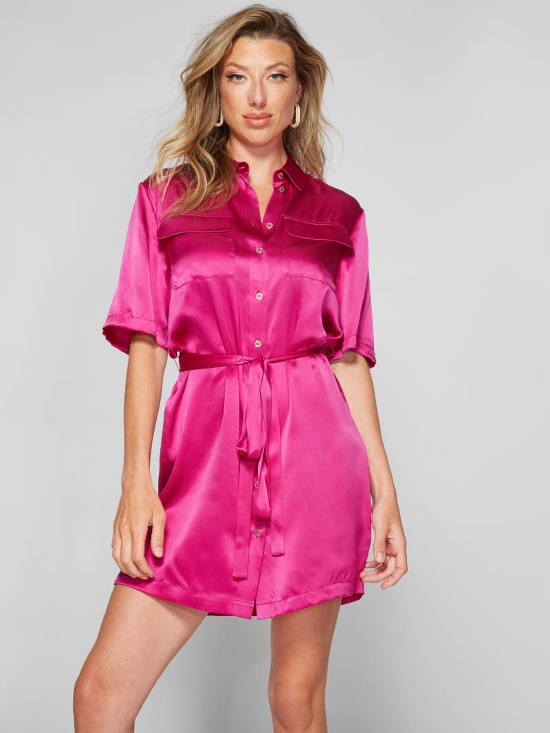 Luana Silk Shirt Dress