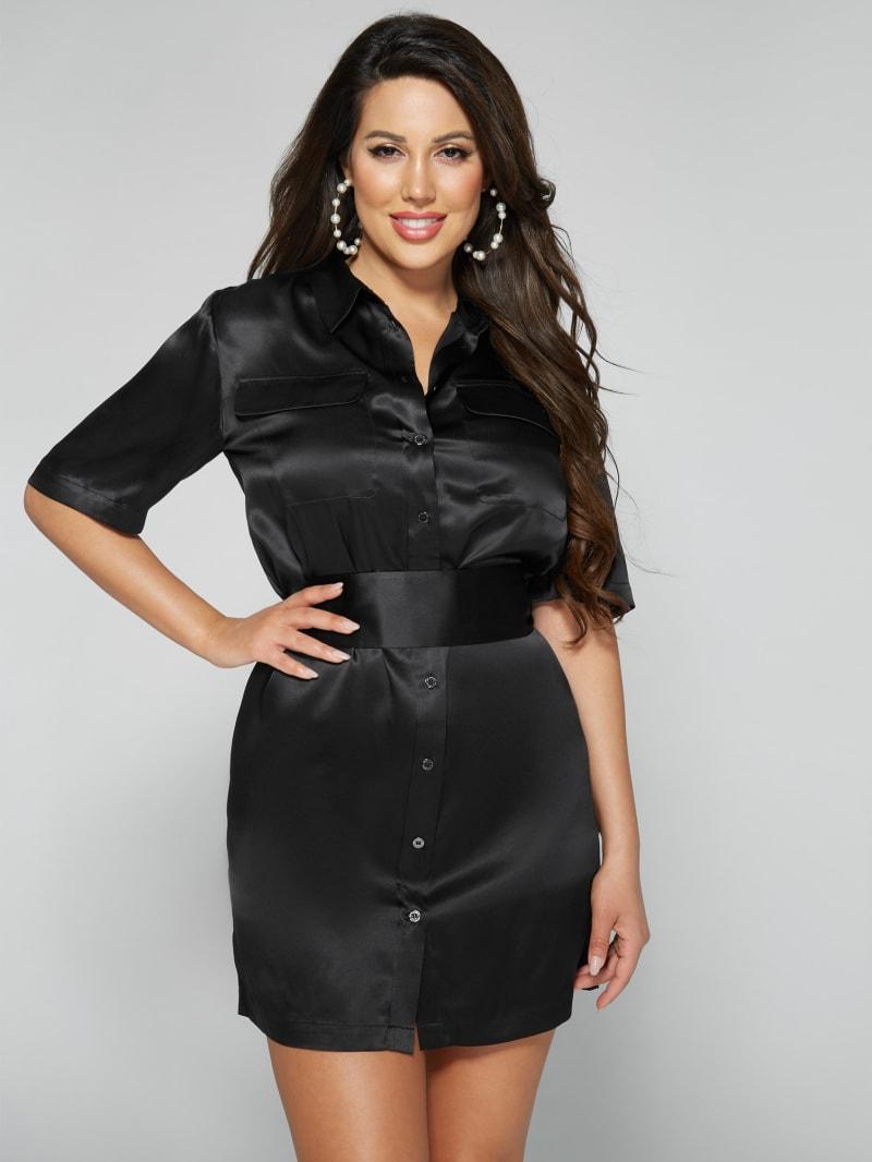 Luana Silk Shirt Dress