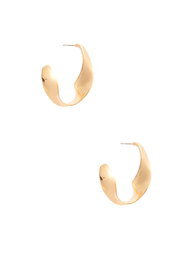 Gold-Tone Twist Hoops
