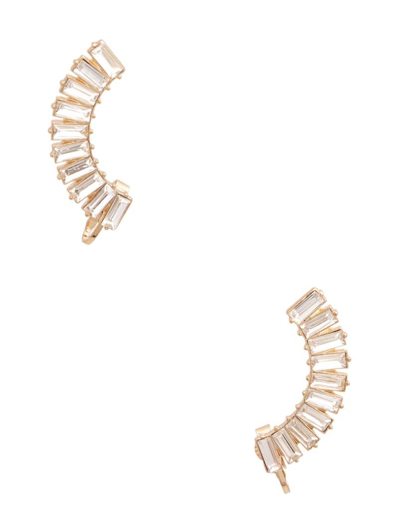 Gold-Tone Bagette Crystal Ear Crawler