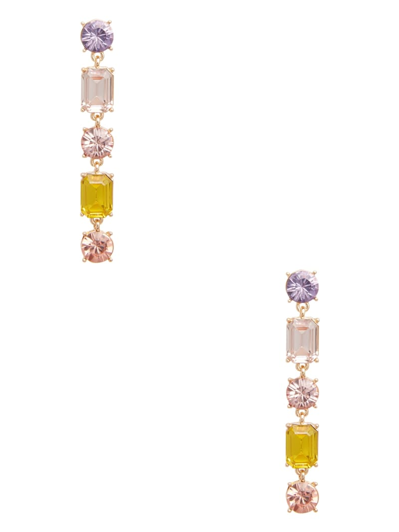 Multi-Color Rhinestone Dangle Earring