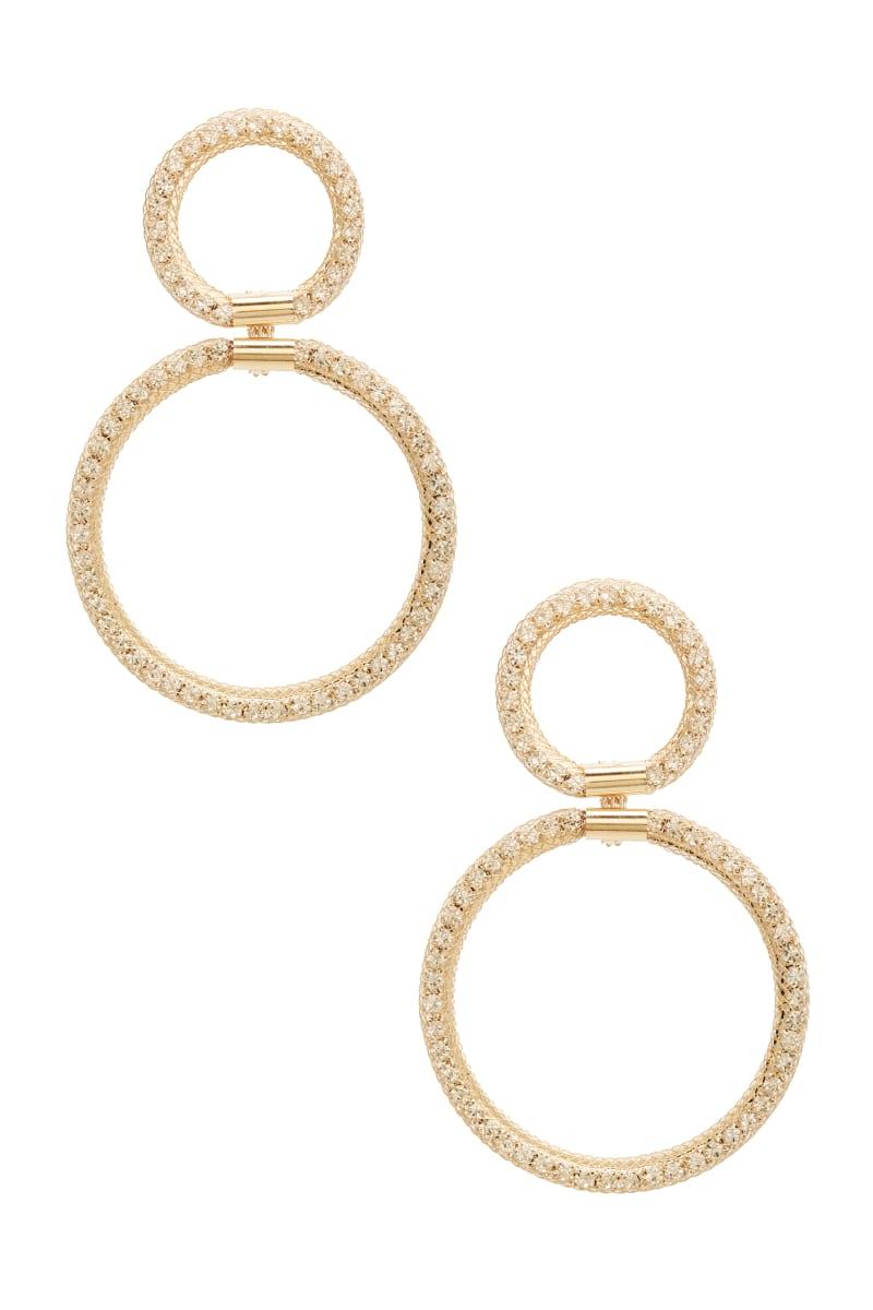 Gold-Tone Hoop Dangle Earrings