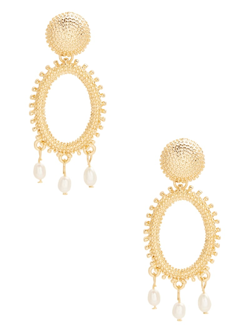 14KT Gold and Pearl Dangle Earring