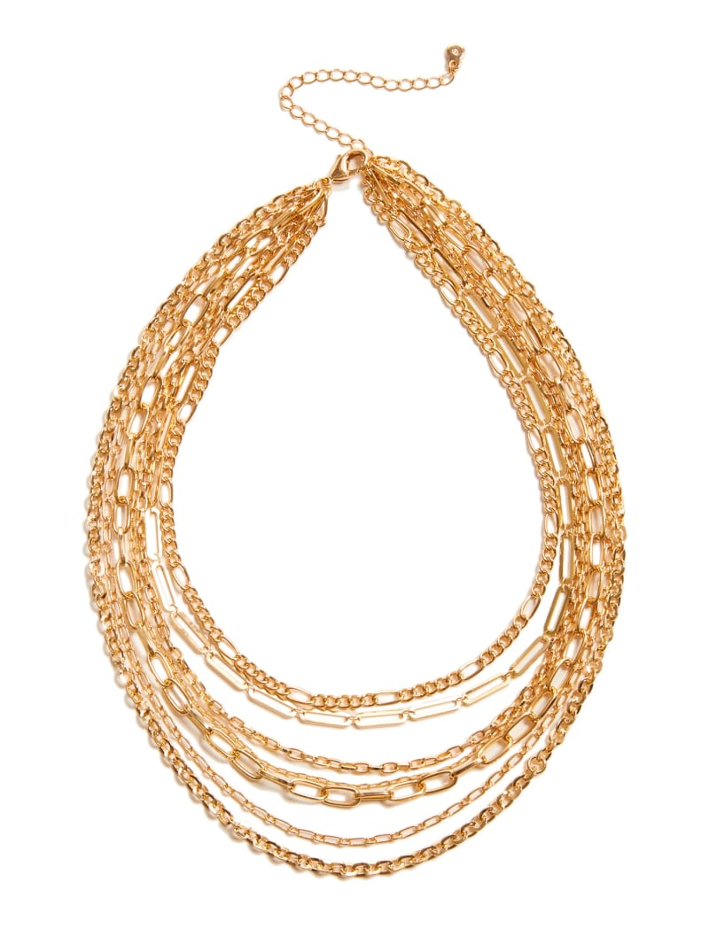 Gold-Tone Layered Chain Necklace