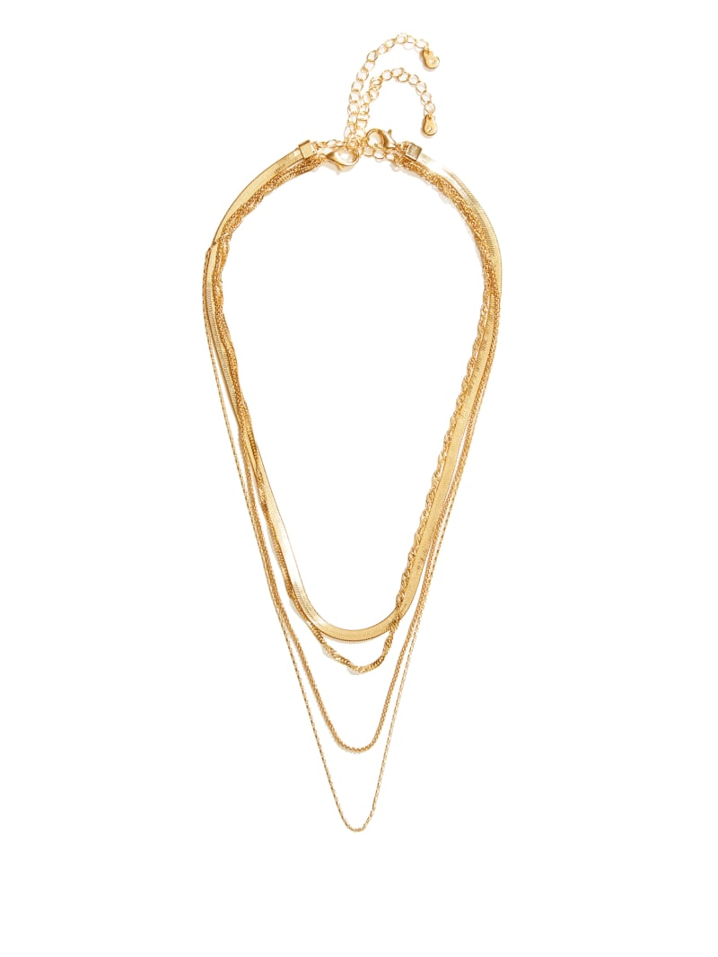 14KT Gold Layered Necklace Set