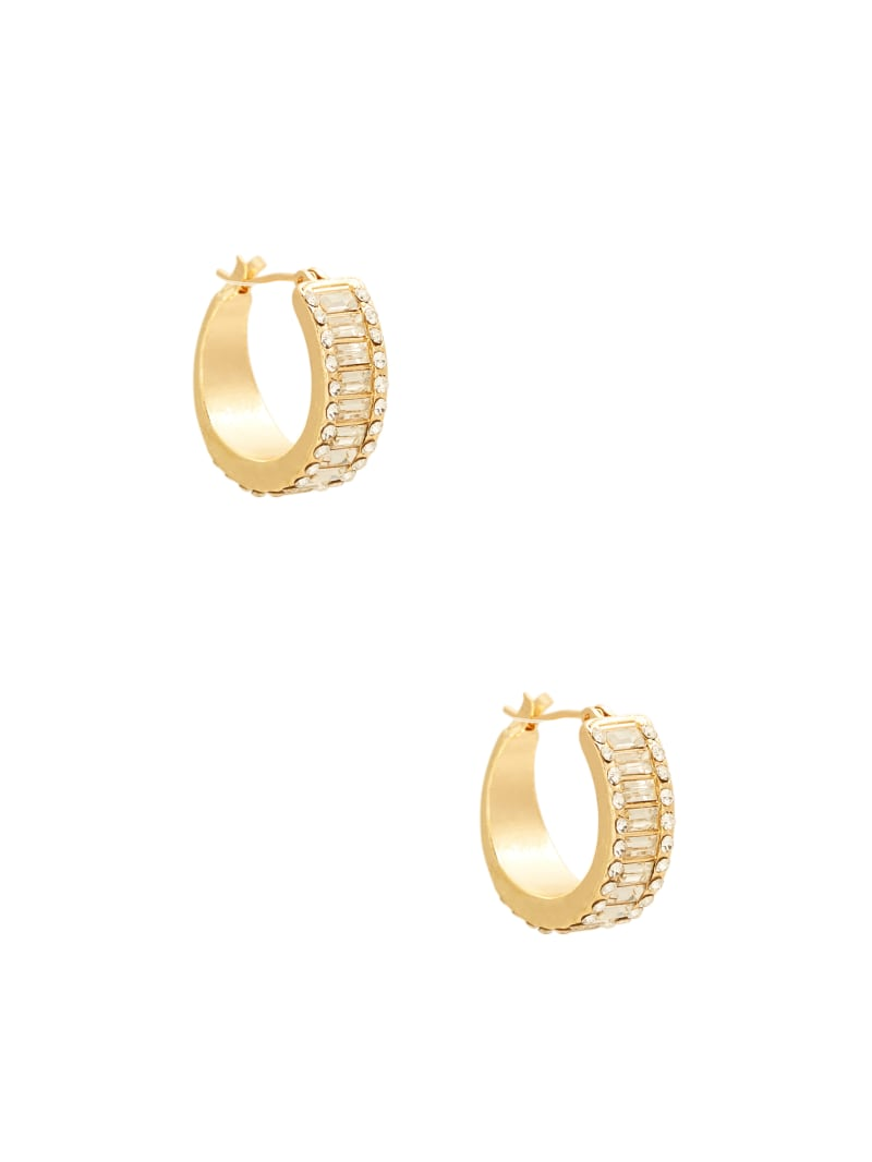 14KT Baguette Hoop Earring