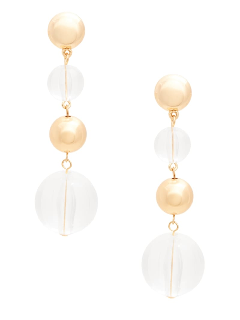 Gold-Tone Orb Dangle Earring