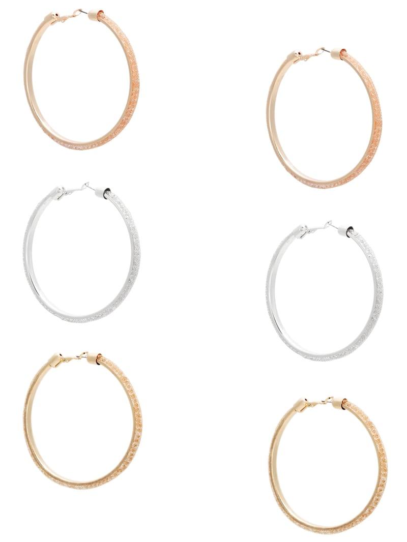 Patricia Multi-Tone Hoop Earrings Set