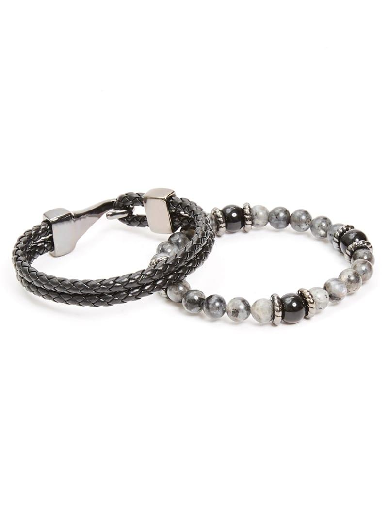 Marbled Beaded Bracelet Set