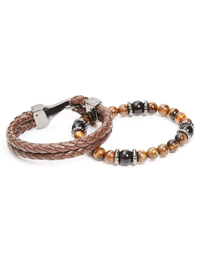 Tigers Eye Beaded Bracelet Set
