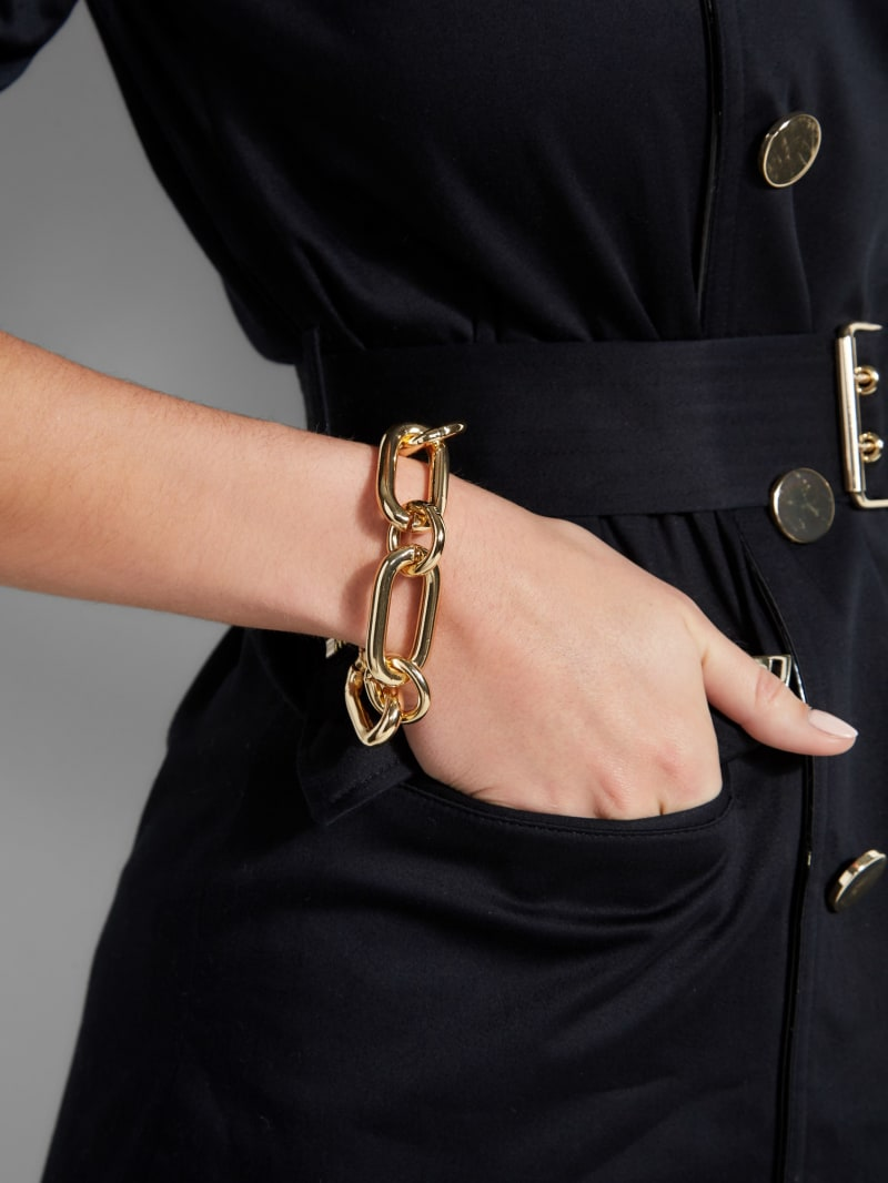 Gold-Tone Chunky Chain-Link Bracelet