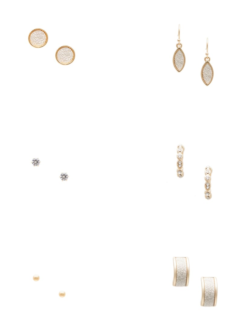 Zelma Gold-Tone Rhinestone Earrings Set