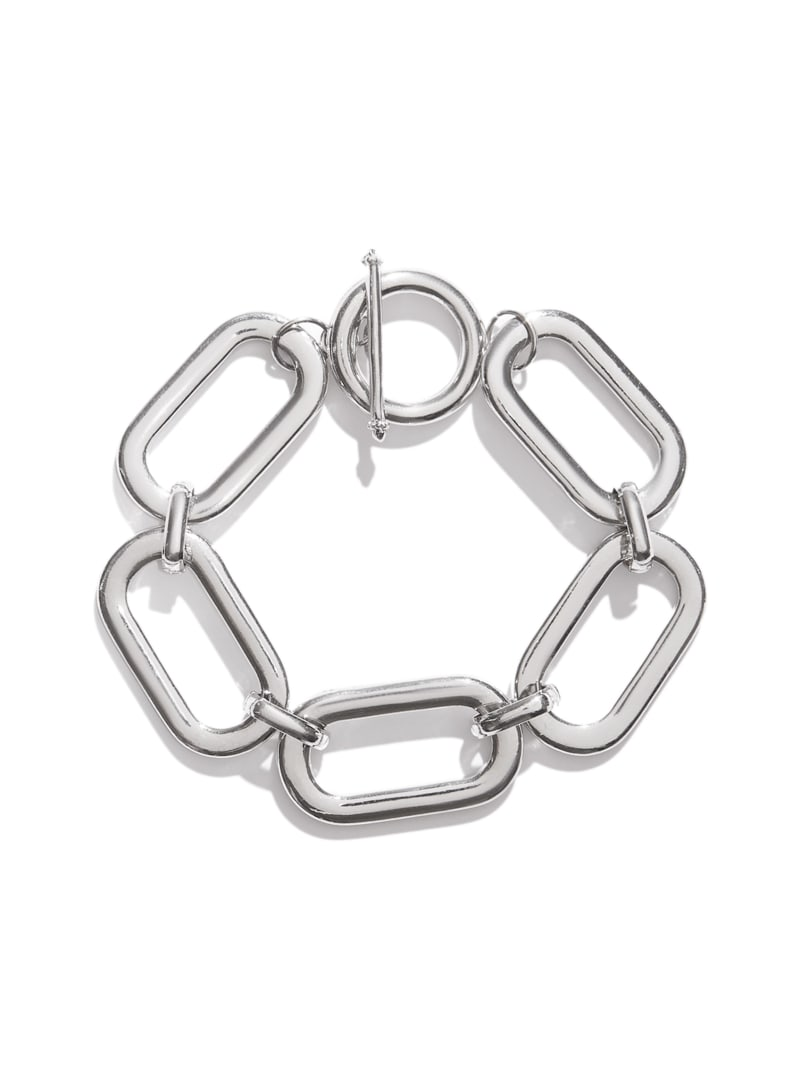 Silver-Tone Toggle Front Chunky Chain-Link Bracelet