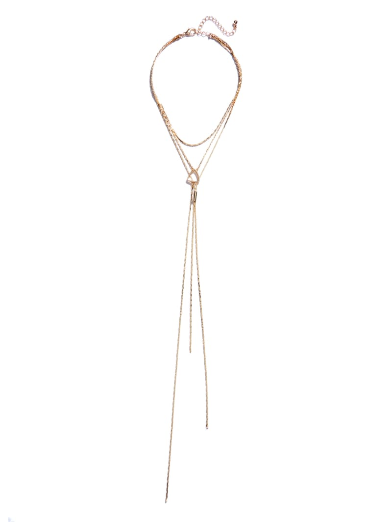 Gold-Tone Triangle Y-Necklace