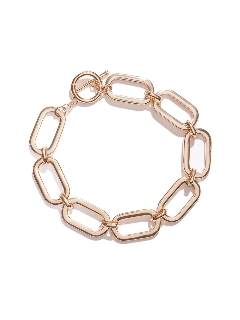 Toggle Front Chunky Chain-Link Necklace