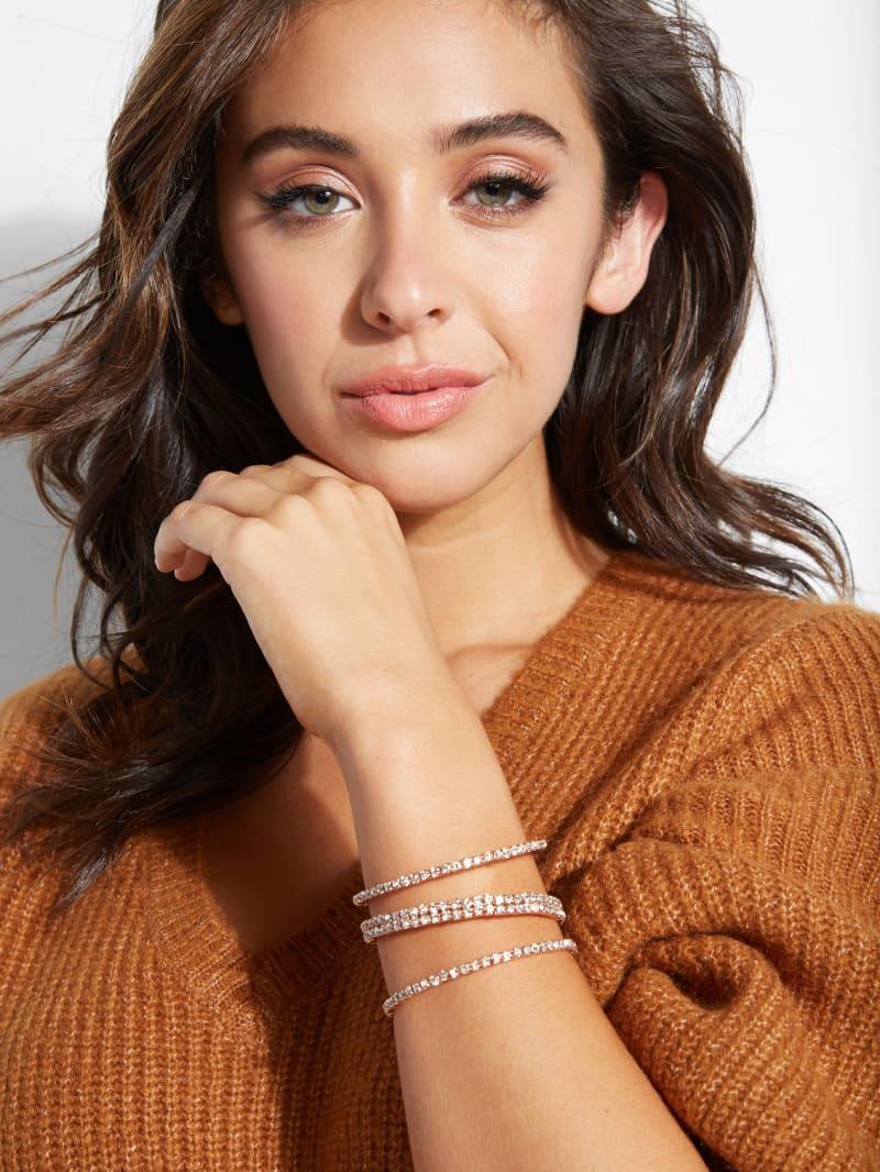 Gold-Tone Asymmetric Flexi Cuff Bracelet