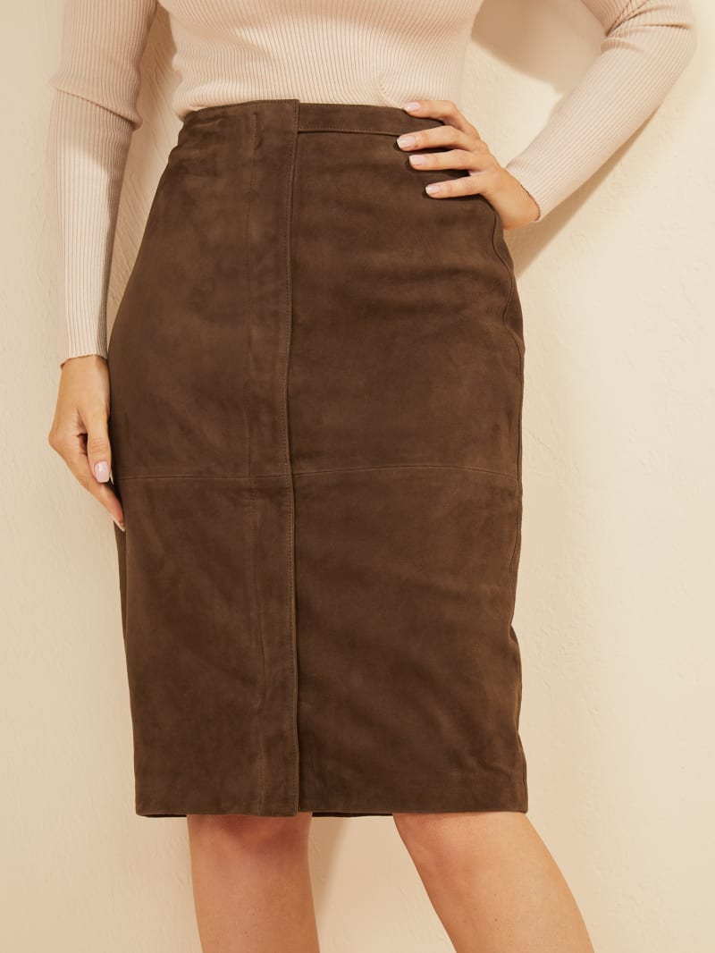 Influential Suede Skirt