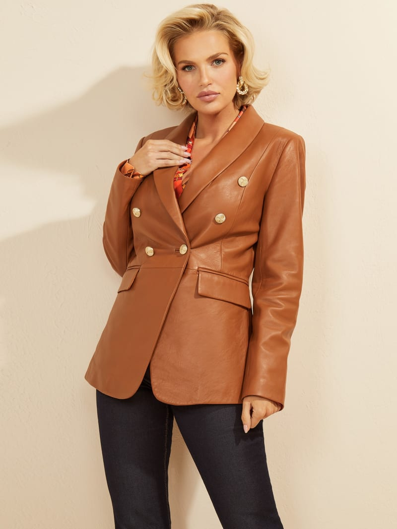 Roxanna Leather Blazer