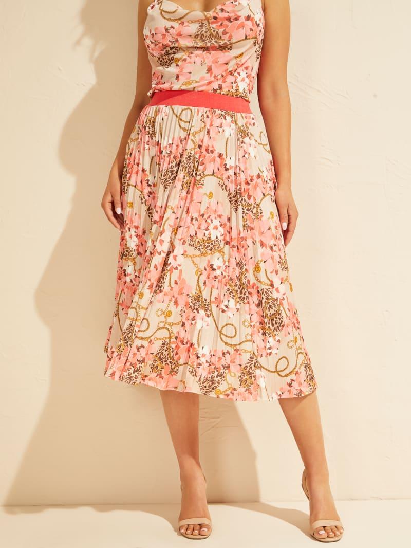 Amina Pleated Midi Skirt