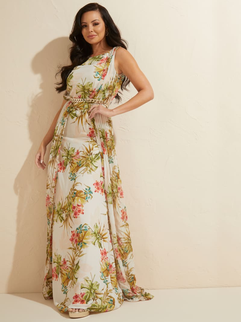 Tropical Bouquet Maxi Dress