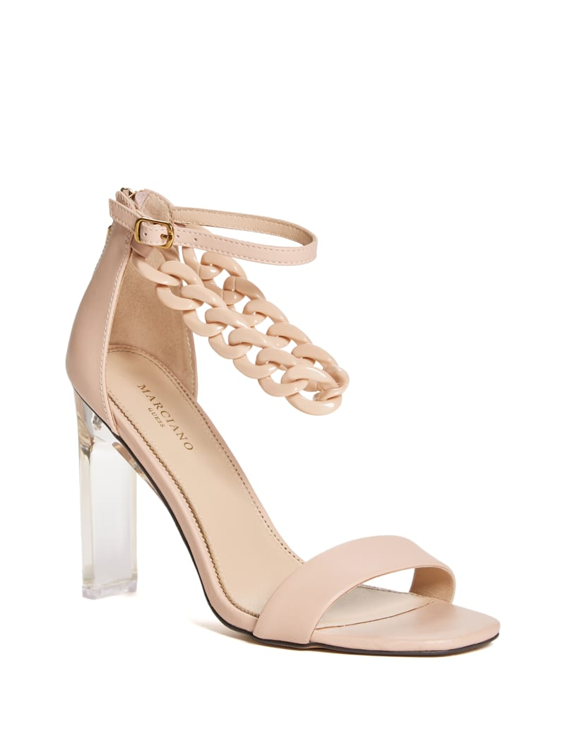 Chain Strap Heeled Sandal