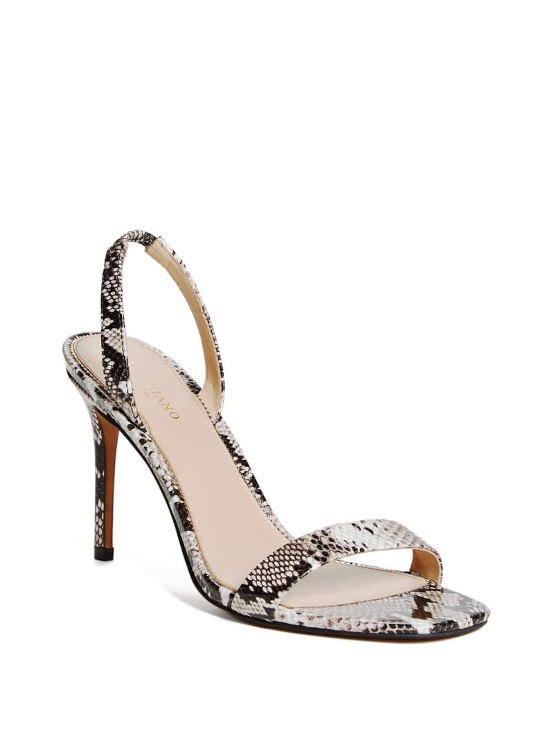 Single Strap Python Heel