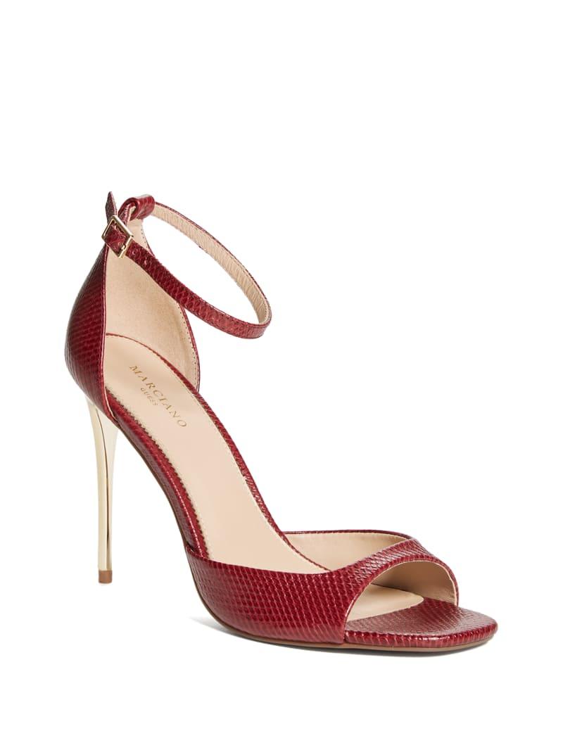Heeled Peep-Toe Sandal