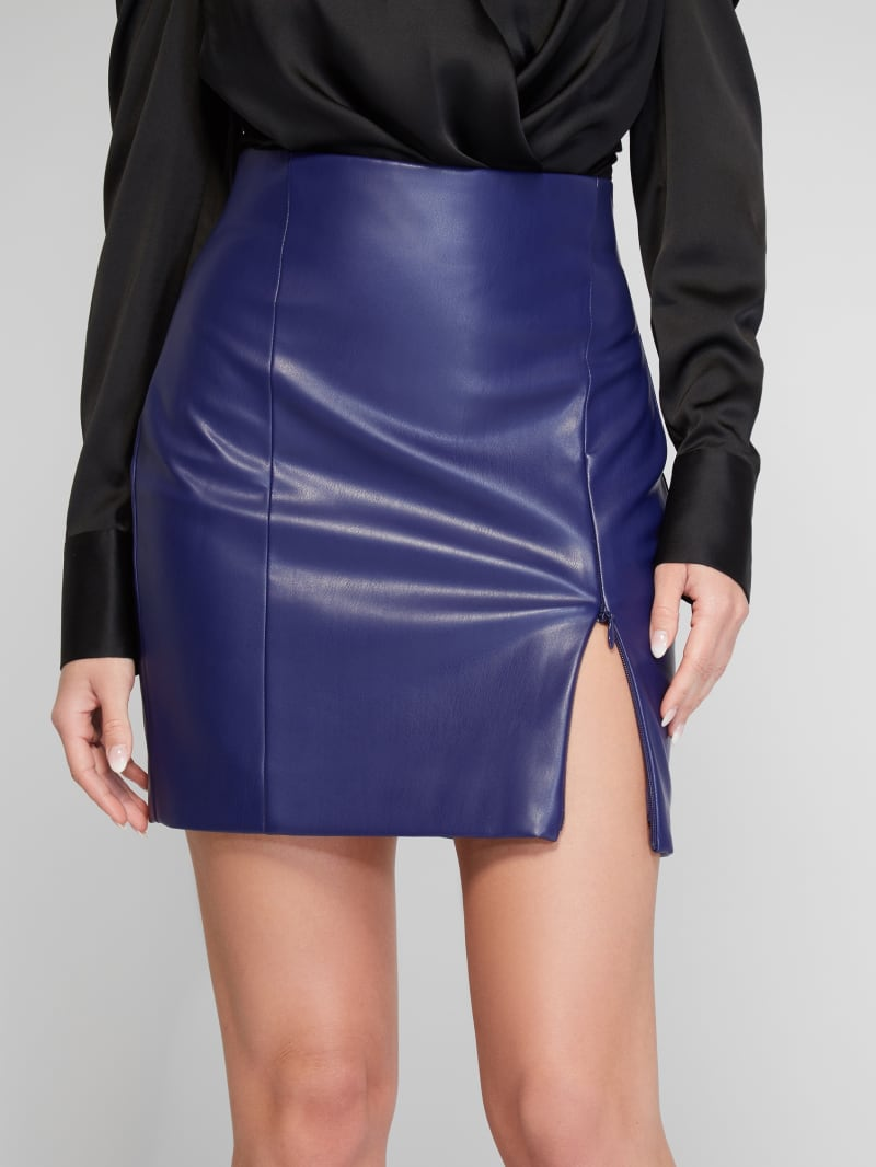 Avril Faux-Leather Skirt
