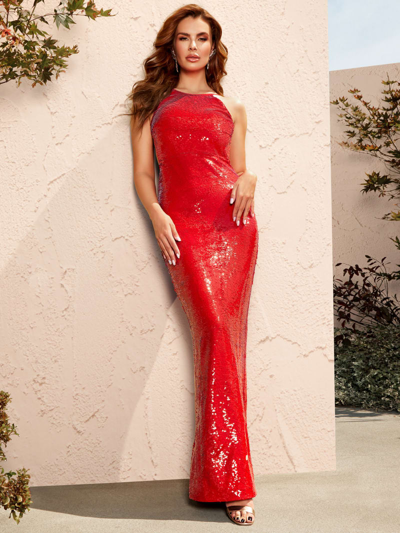 Leeza Seduction Sequined Maxi