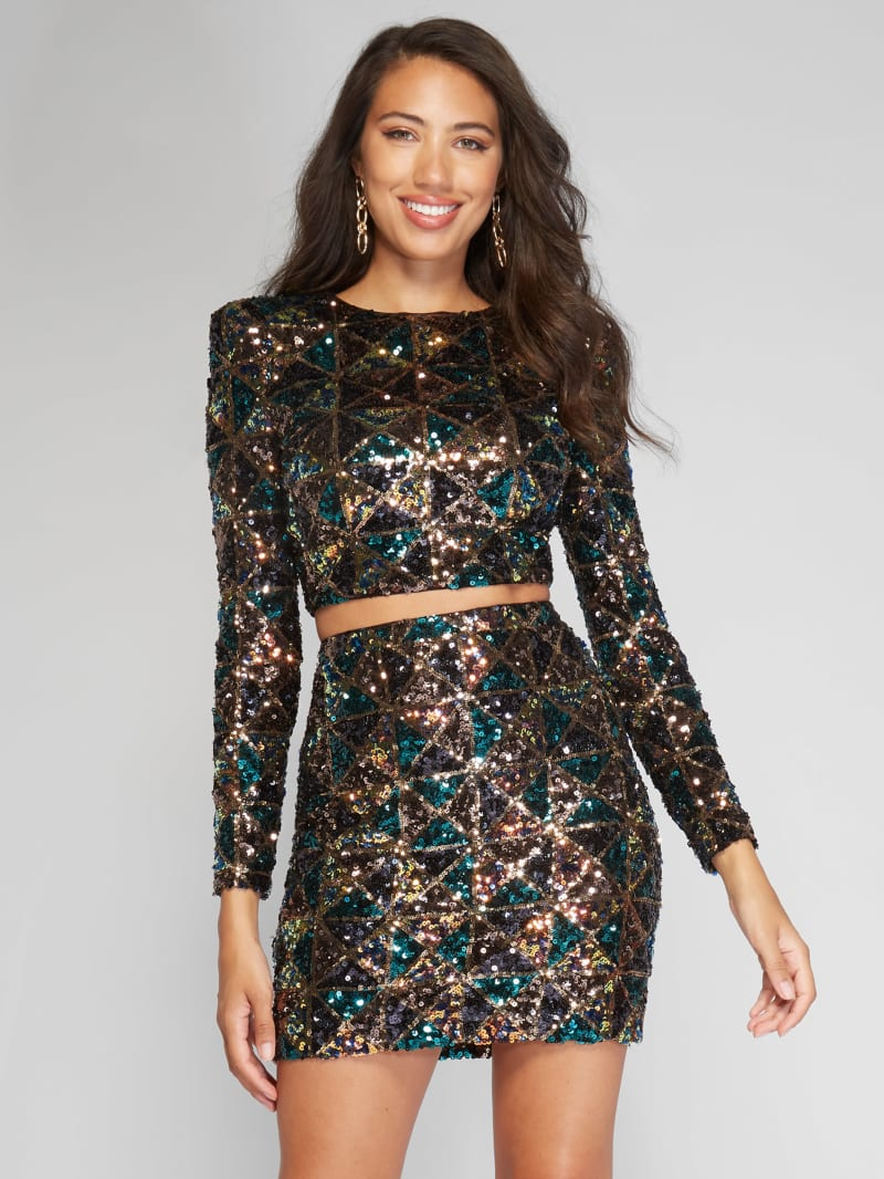 Ezra Sequin Two-Piece Set