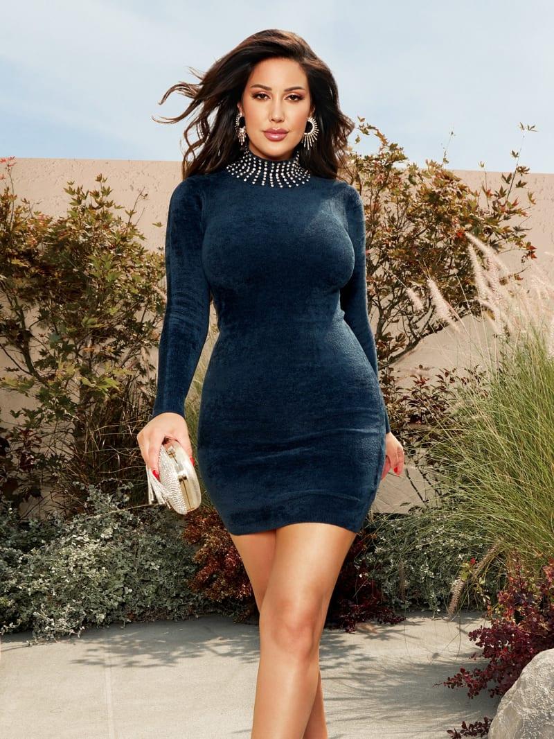 Katie Crystal Sweater Dress