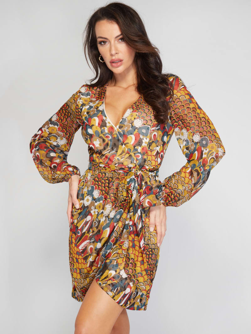 Obsession Tie-Front Wrap Dress