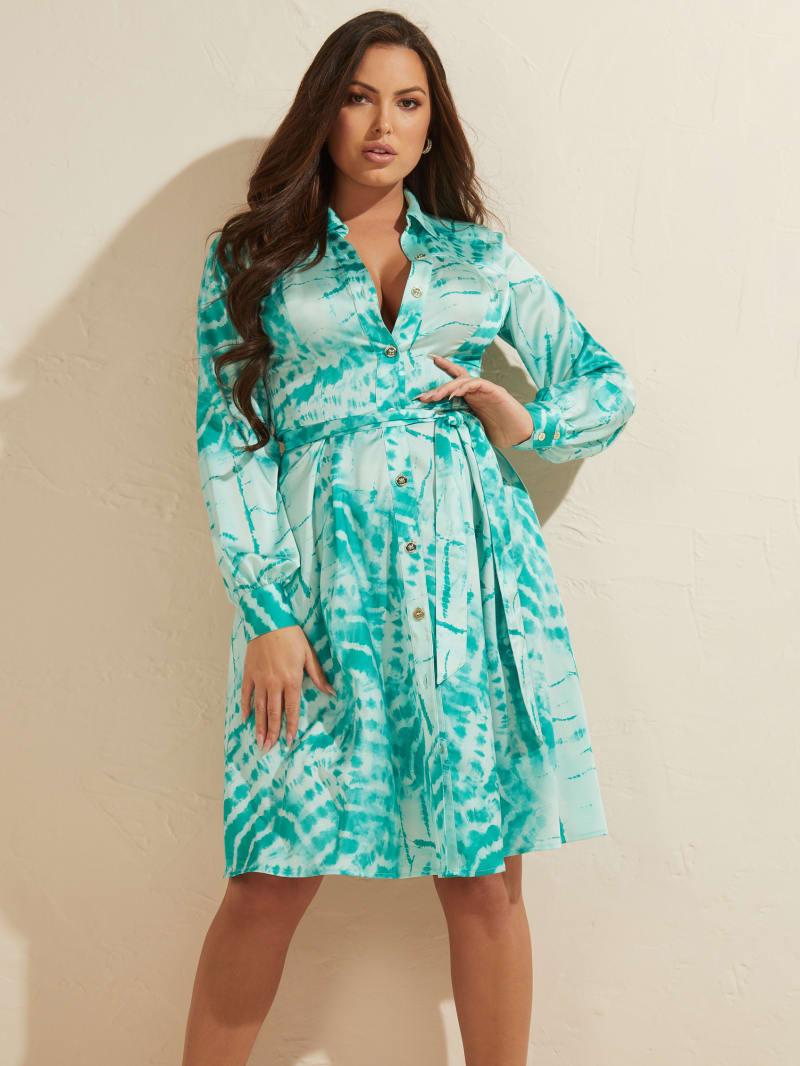 Batik Shirt Dress