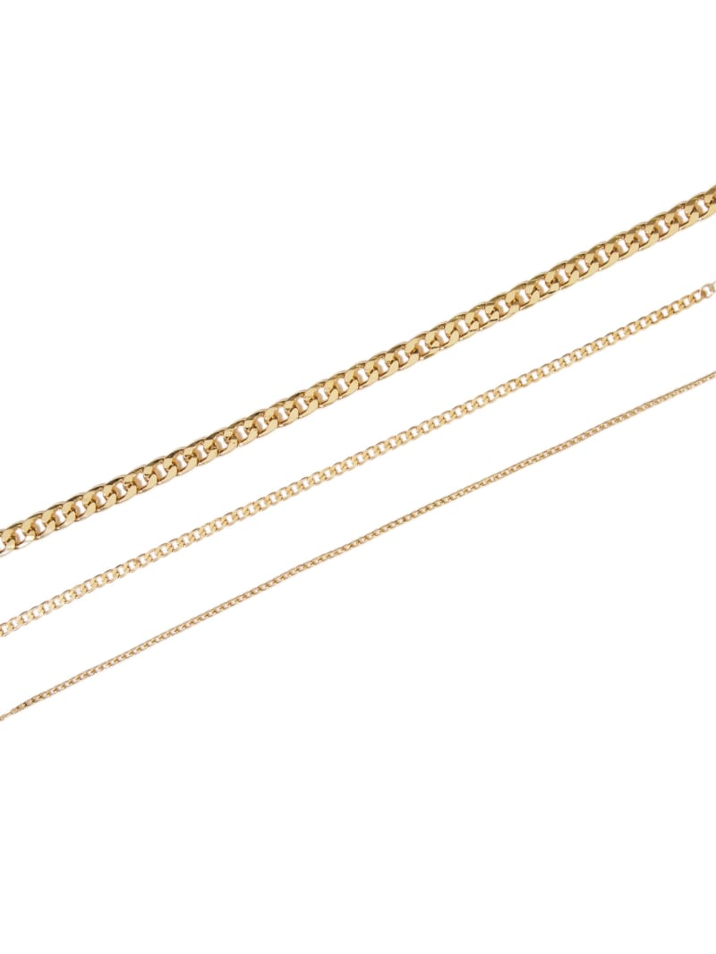 Gold-Tone Chain-Link Choker Set