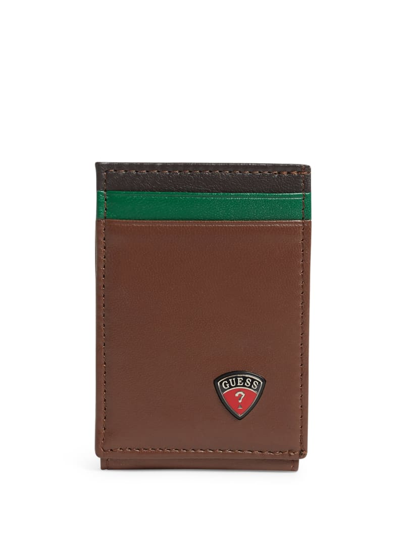 Racing Stripe Magnetic Leather Wallet