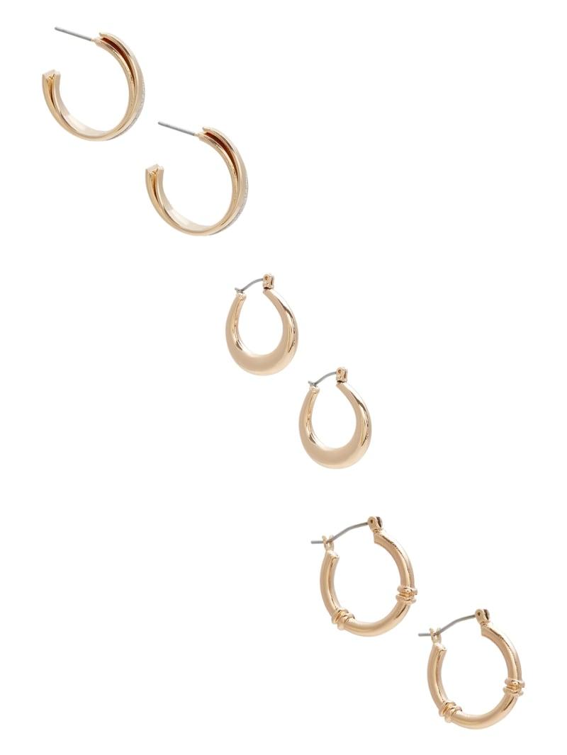 Vintage Gold-Tone Small Hoop Earring Set