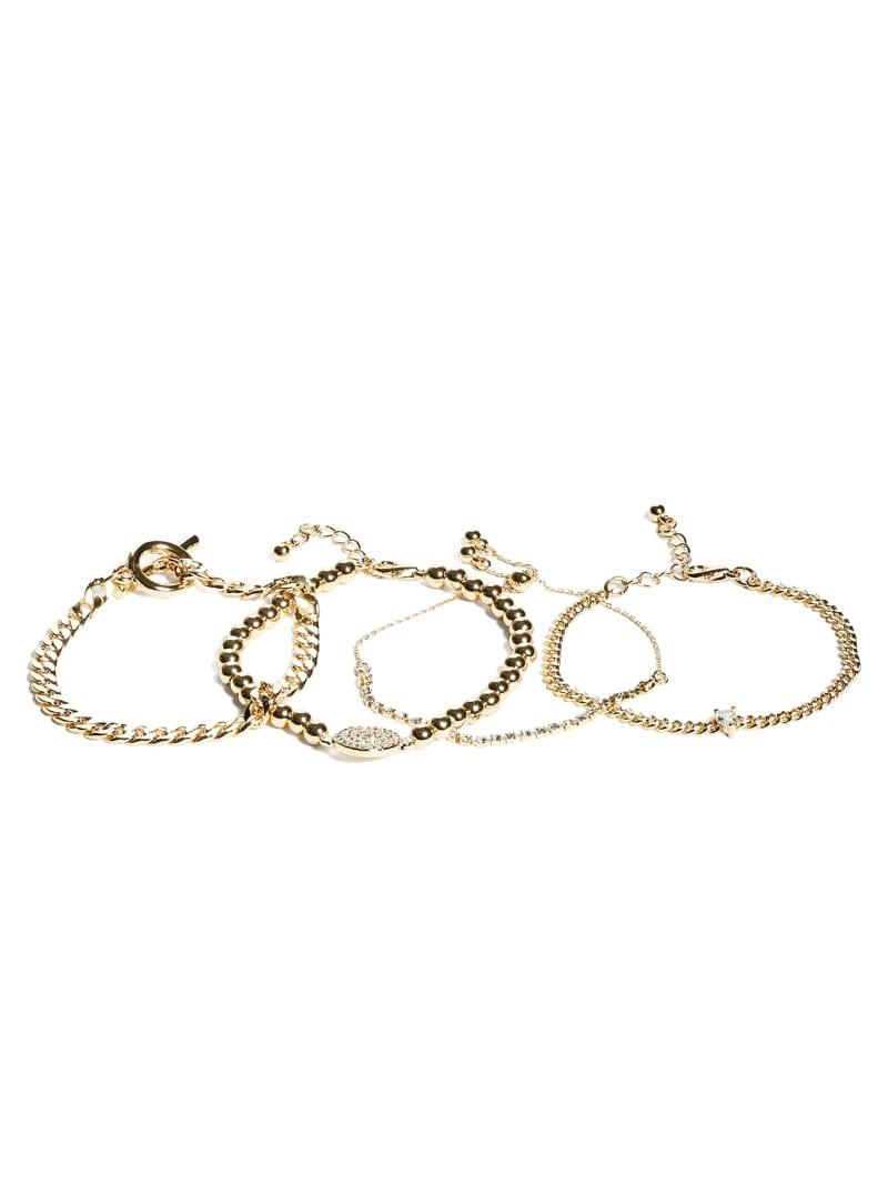 Gold-Tone Layered Bracelet Set