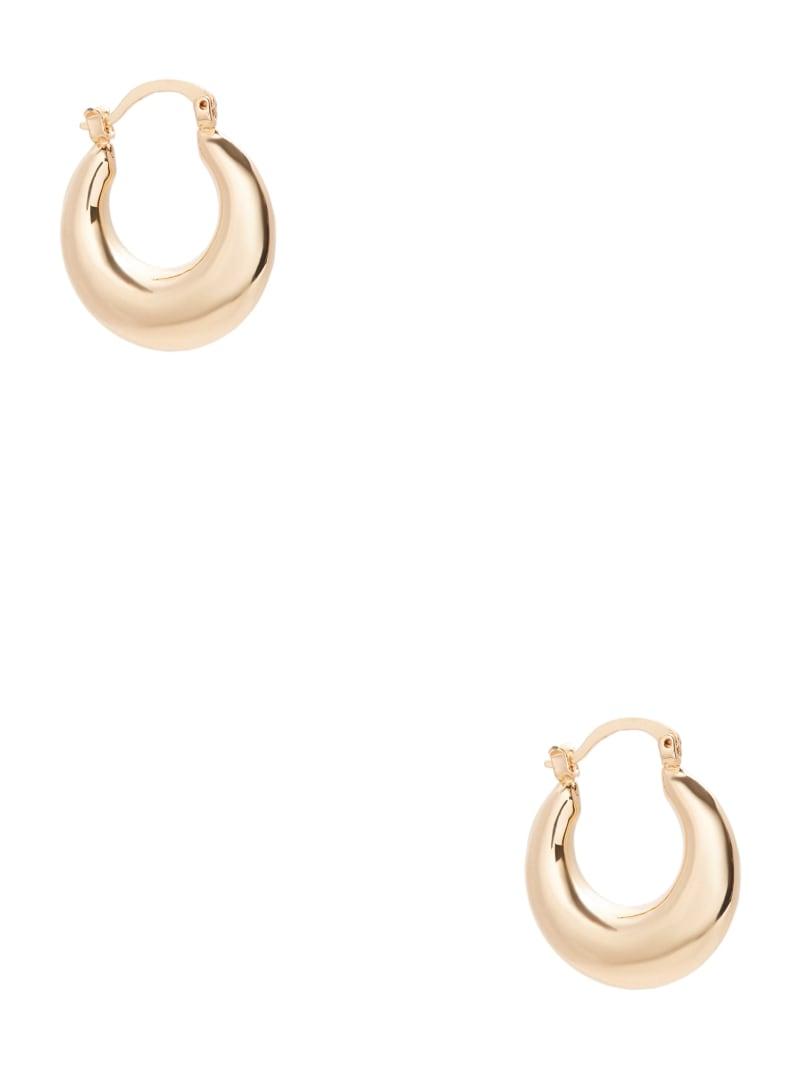 Gold-Tone Thick Mini Hoop Earrings
