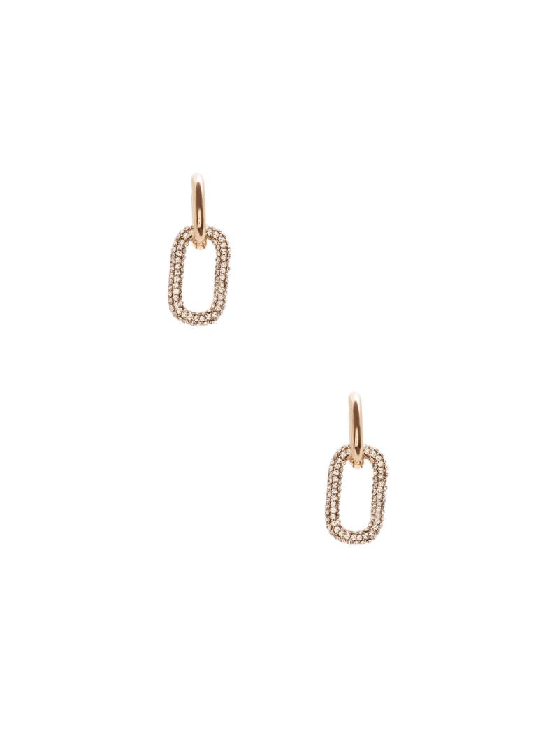 Pavé Square Hoop Earrings