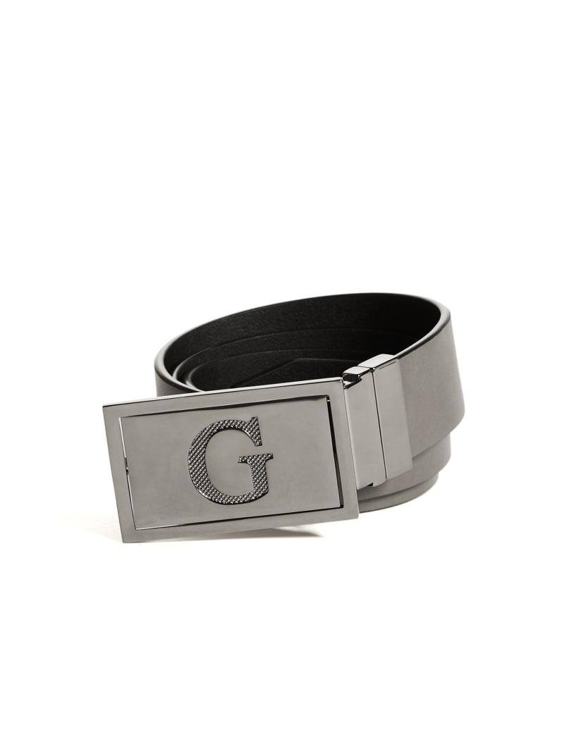 Reversible Textured Logo Plaque Belt
