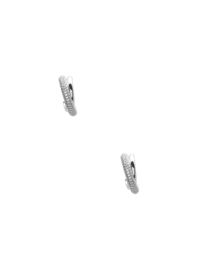 Twisted Rhinestone Hoop Earrings