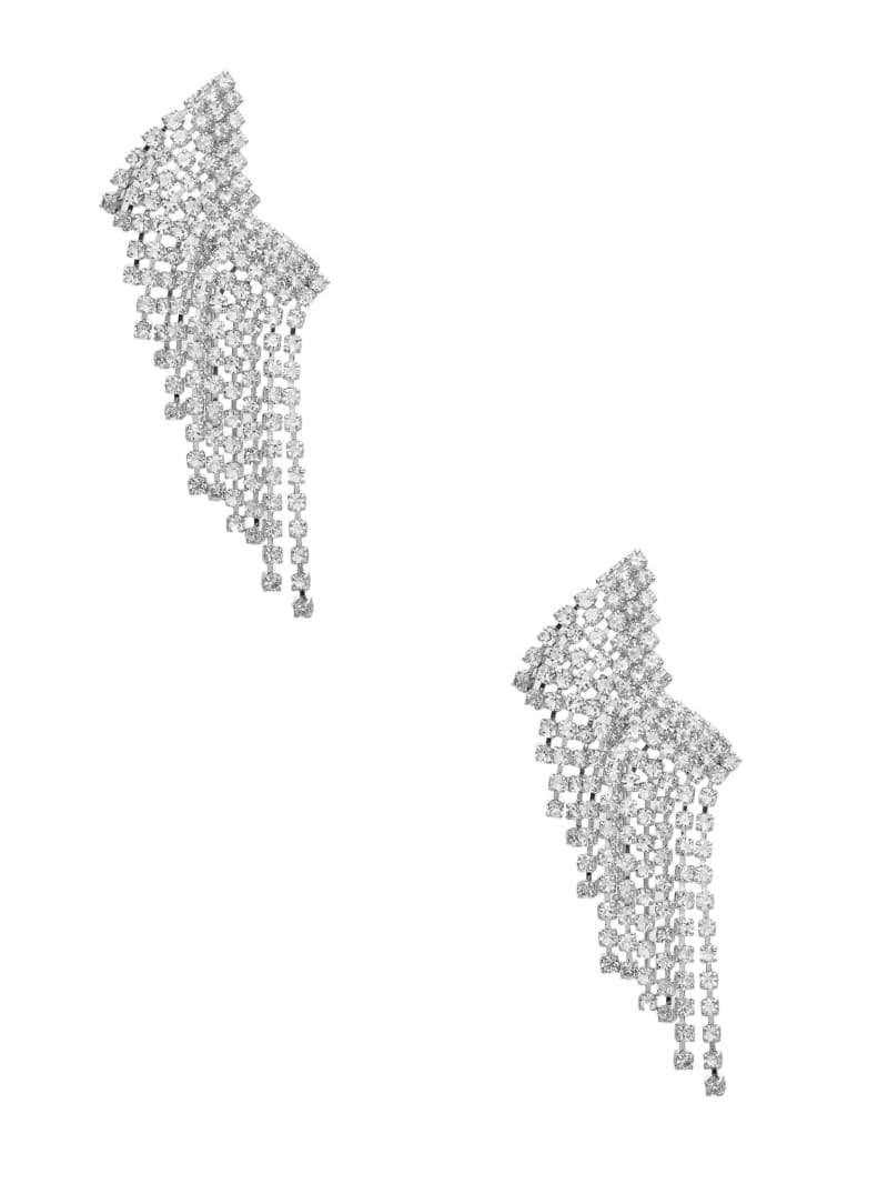 Rhinestone Fringe Crawler Earrings