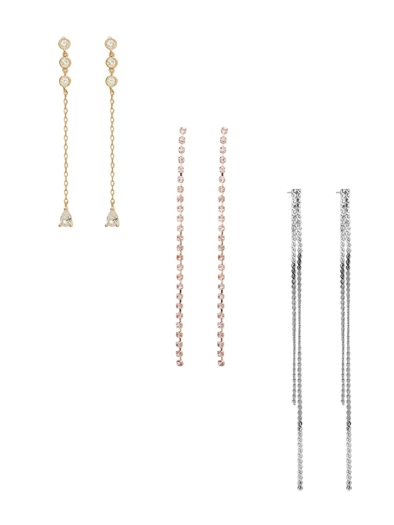 Multi-Tone Linear Earrings Set