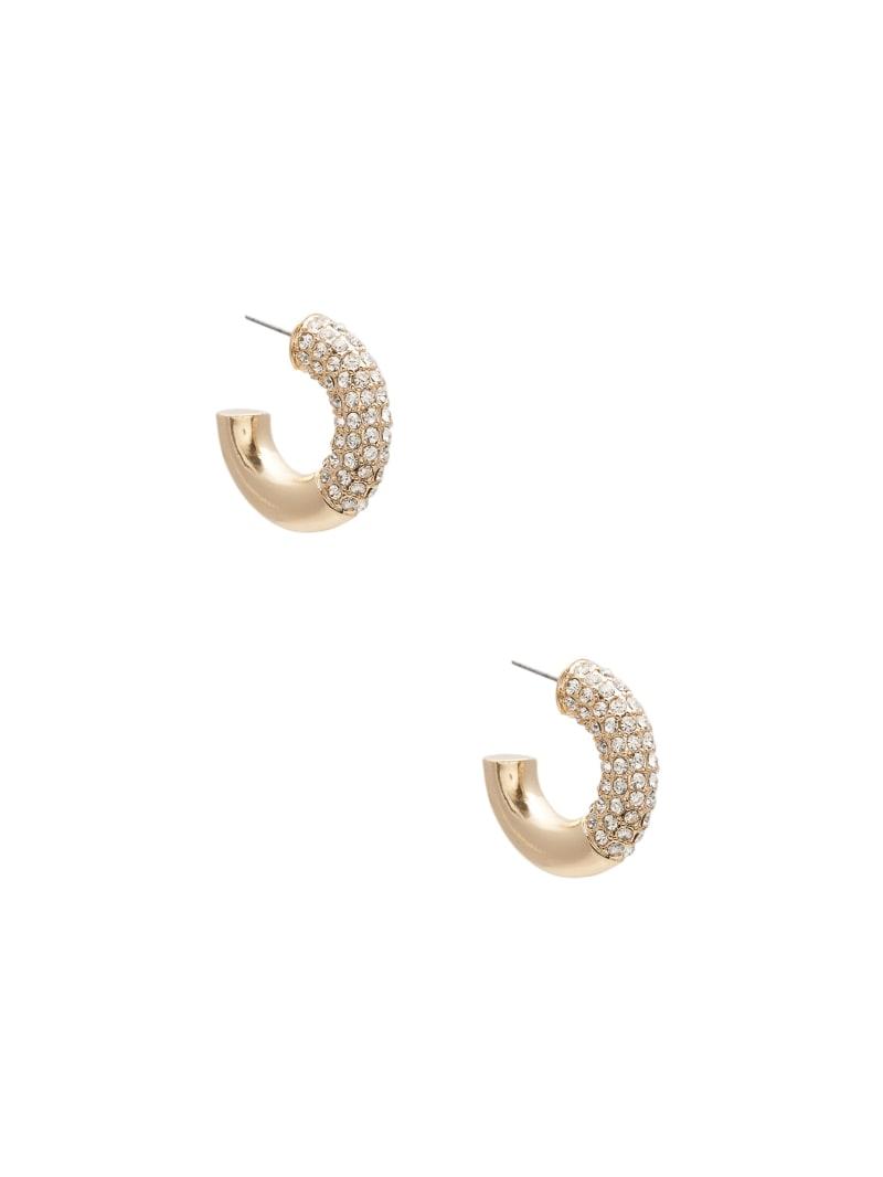 Gold-Tone Bling Hoop Earrings