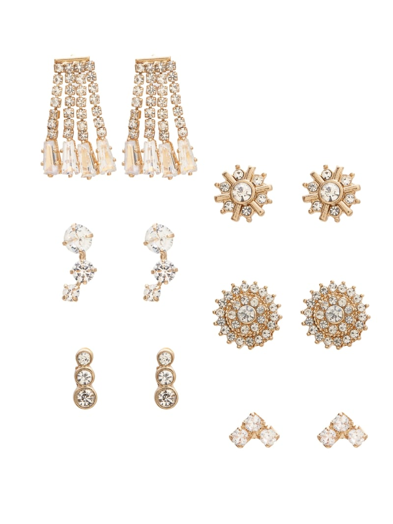 Gold-Tone Stud Earrings Set