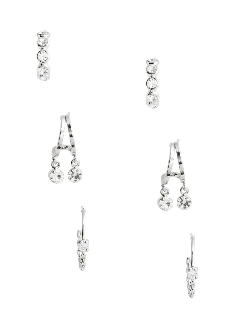 Rhinestone Mini Hoop Earrings Set